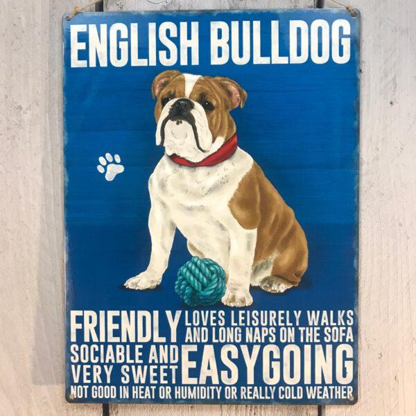 English bulldog plaque