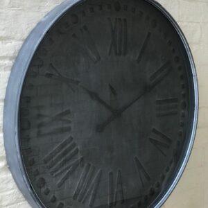 charcoal grey wall clock