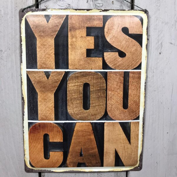 yes you can inspirational wall plaque