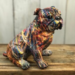 sitting bulldog ornament