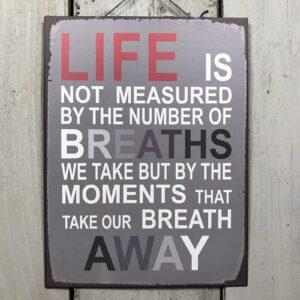 inspirational plaque
