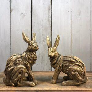 gold hare ornament
