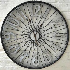 bike spokes wall clock