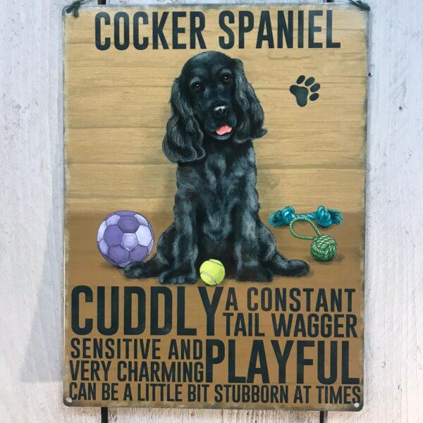 Black Cocker Spaniel Plaque