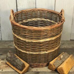 unlined log basket