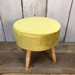 green velvet footstool