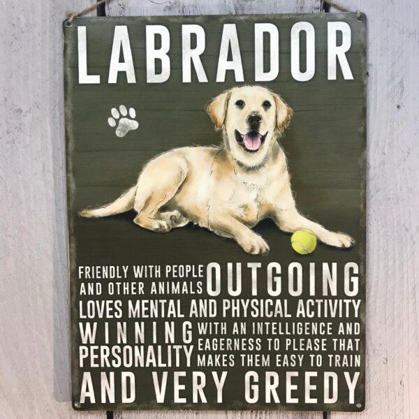 golden Labrador plaque