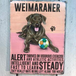 Weimaraner Plaque