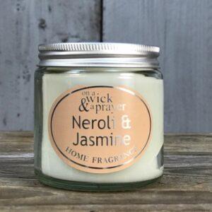 neroli and jasmine scented candle