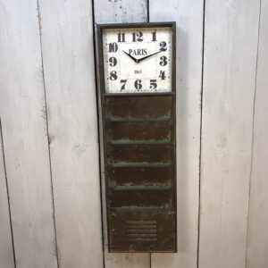 Industrial Clock with Filing Organisers