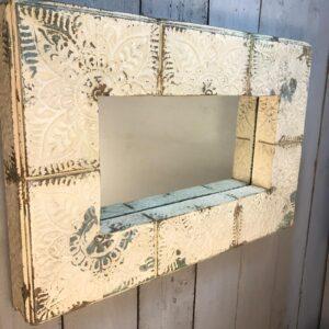 rustic cream mirror