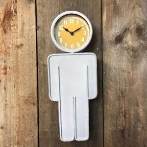 male silhouette wall clock