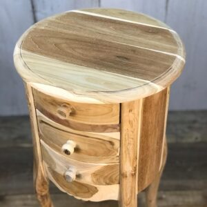natural teak side table