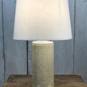 grey concrete table lamp
