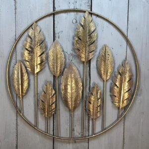 metal leaf wall art