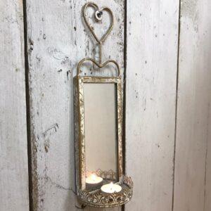 outdoor heart wall mirror