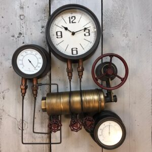 industrial pipe wall clock