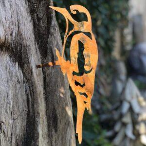 metal woodpecker garden ornament