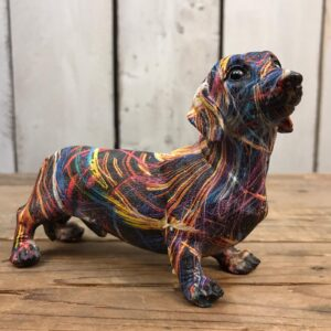 sausage dog table ornament
