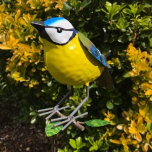 blue tit garden ornament