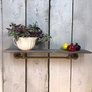 industrial wooden shelf