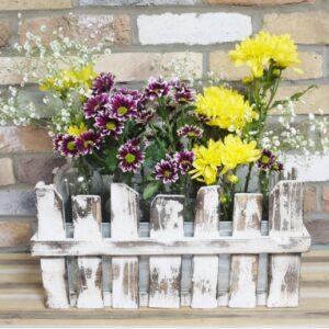 glass bottle flower holder