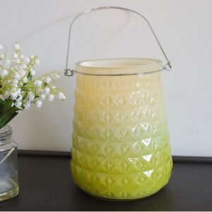 textured glass candle holder