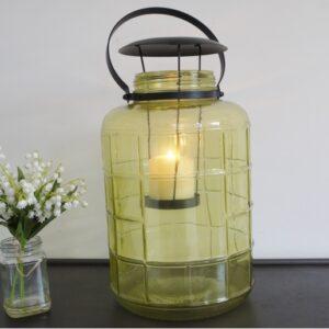 glass lantern candle holder