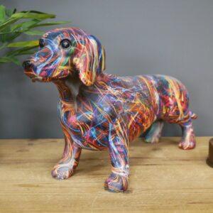 Patterned Sausage Dog Ornament