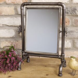 industrial table mirror