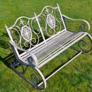 rocking garden bench