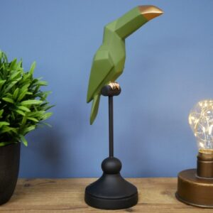 parrot on a stand ornament