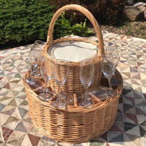 champagne celebration basket