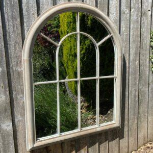 rustic outdoor mirror