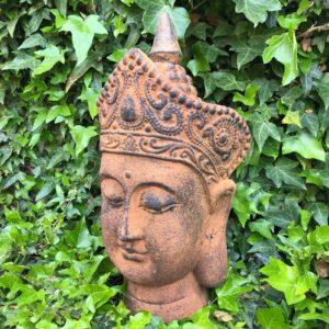outdoor buddha head