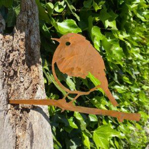 metal bird fence decoration