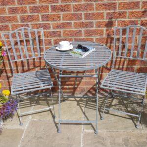 grey patio set