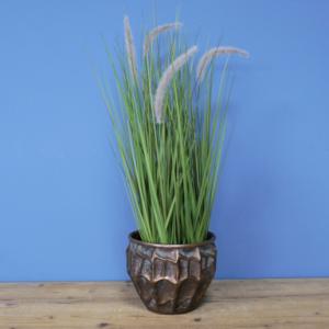 metal indoor planter