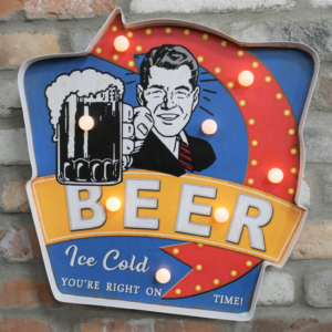 Retro Beer Sign